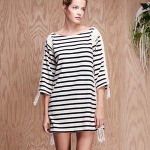 PEPIN (Anthro) NWT Breton Striped Crochet Dress XL